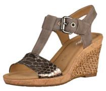 Sandalette greige / silber