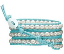 Armband hellblau / perlweiß