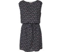 Kleid mit Allover-Print navy / mischfarben