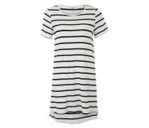 Kleid mit Streifenmuster schwarz / weiß