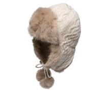 TOMMY HILFIGER Polarmütze 'Farika' weiß / beige