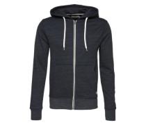 Sweatshirtjacke 'jorstorm Sweat ZIP Hood B' blau