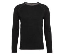 Pullover 'cneck RGL 2Tone' schwarz