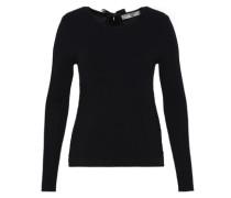 Layer-Pullover mit Satinschleife schwarz