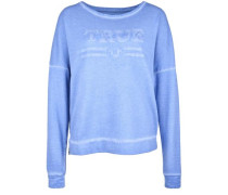 Sweatshirt 'crew Artwork' blau