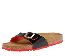Sandale mit Fußbett und Kontrastsohle 'Madrid' Schmal rot / schwarz