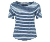 Shirt 'Florinda' blau / weiß