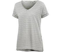V-Shirt Damen schwarz / weiß