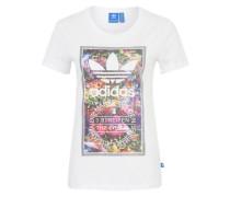 T-Shirt 'Tongue' mischfarben / weiß