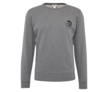 Sweatshirt 'umlt - Willy' mit Marken-Print grau