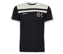 T-Shirt '83-C' navy / weiß