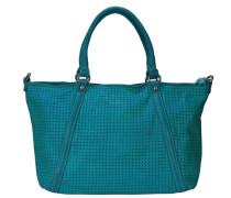Agave Shopper Tasche Leder 36 cm blau