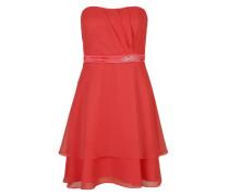 Bustierkleid mit Ziersteinapplikation orange / rot