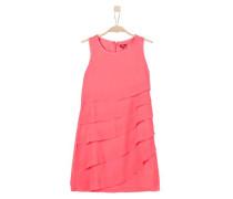 Volantkleid aus Chiffon pink