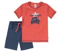 Schlafanzug für Jungen dunkelblau / rot