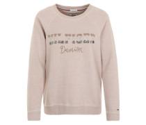 Sweatshirt mit Zierperlenbesatz pink