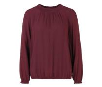Jacquard-Bluse mit Bündchen rot