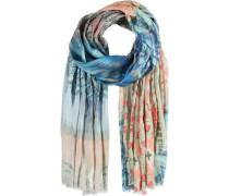 Baumwoll-Modal-Schal beige / blau / hellblau / lachs / rosa