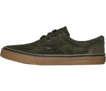 Sneaker mit Suede oliv