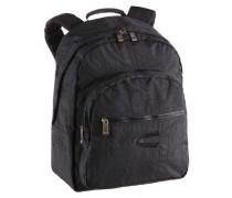 Rucksack mit gepolstertem Laptopfach schwarz