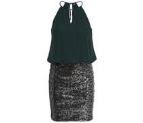 Detail-Kleid ohne Ärmel grün / silber