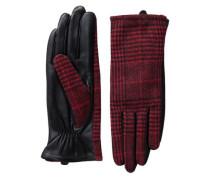 Leder-Handschuhe rot / schwarz