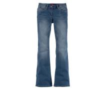 Jeans in schmaler Bootcut-Form für Mädchen blau