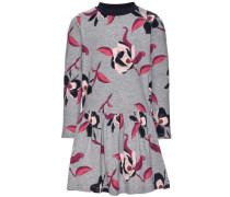 Kleid mit langen Ärmeln Blumenbedrucktes dunkelblau / grau / rosa / rot