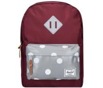 Heritage Kids Backpack Rucksack 33 cm grau / rubinrot