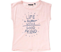T-Shirt für Mädchen dunkelblau / rosa
