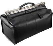 Toscana Bügelreisetasche Leder 52 cm schwarz