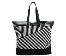 Strand-Tasche schwarz / weiß