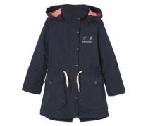 Taillierter Mantel mit rosa Details marine