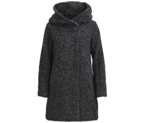 Feiner Mantel dunkelgrau / schwarz
