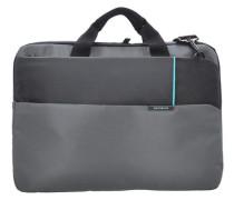 Qibyte Businesstasche 45 cm Laptopfach anthrazit / schwarz