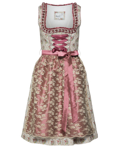 Kleid 'Forenda' beige / grau / rosa
