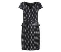 Abendkleidkleid schwarz / weiß