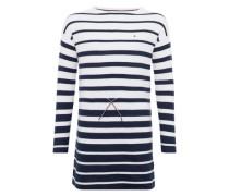 Kleid 'stripe Sweater Dress L/s' schwarz / weiß