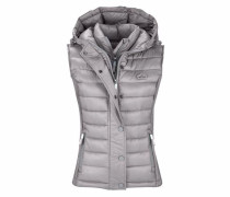 Steppweste 'luxe Fuji Double ZIP Vest' silber