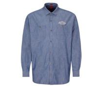 Regular: Hemd in Denim-Optik blau