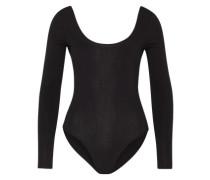 Bodysuit mit tiefem Rückenausschnitt schwarz