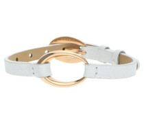 Armband 'White Rose' gold / weiß