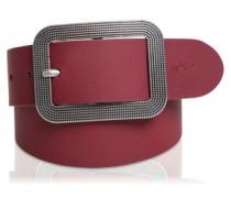 Ledergürtel mit Zierschließe pink