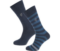 Swen 2 Paar Socken blau / marine