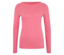 Langarmshirt mit U-Ausschnitt pink