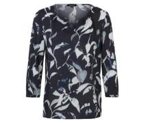 3/4-Arm-Tunika mit Allover-Print blau / weiß