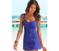 Badeanzugkleid blau