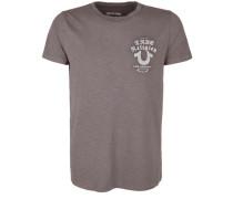 T-Shirt 'crew Logo' creme / hellbraun