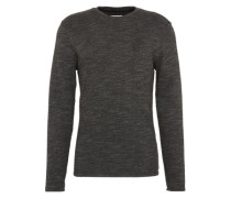 Pullover 'knit optic sweat' schwarzmeliert