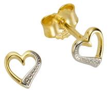Ohrschmuck: Paar Ohrstecker »Herz« gold